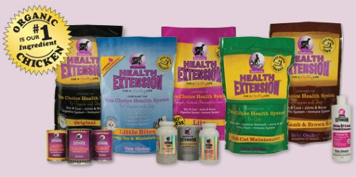 Vets choice Health Extension is an organic healthy choice for your pet. All its components are made in the USA. Most of which are made right in New York. We highly recommend this food, and feed it to our dogs and cats.